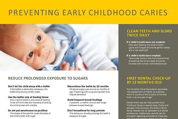 Early Childhood Caries Pamphlet