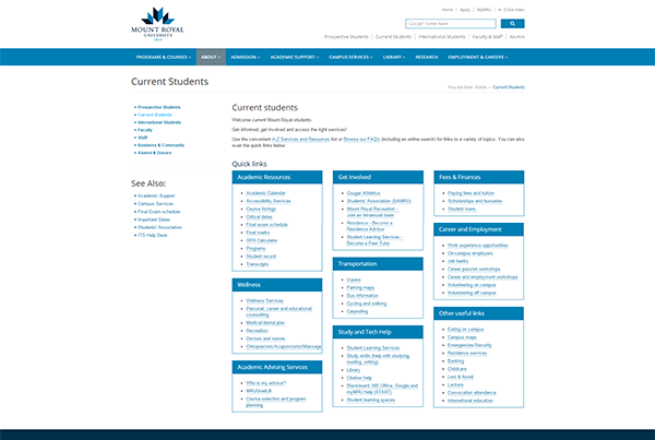Mount Royal Website Refresh